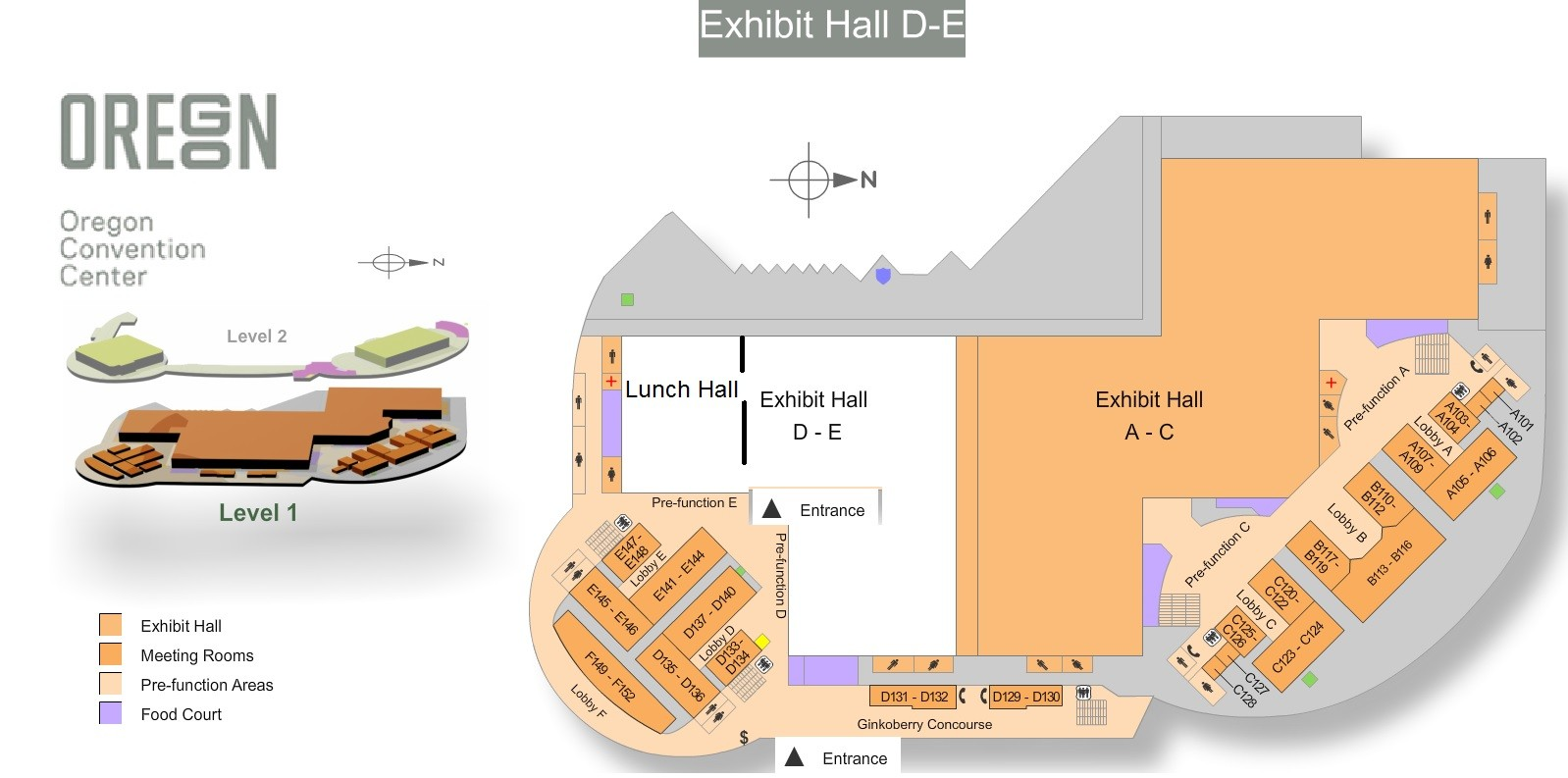 OCC Exhibit Halls E and D